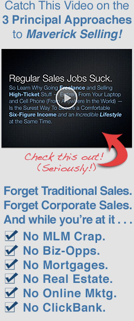 Click to View Video on the 3 Principle Approaches to Maverick Selling